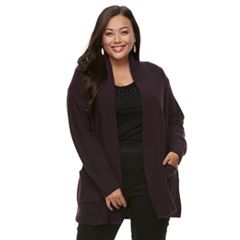 Plus Size Apt. 9® Cozy Shawl Collar Cardigan