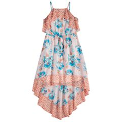Girls 7-16 My Michelle High-Low Hem Floral Maxi Dress