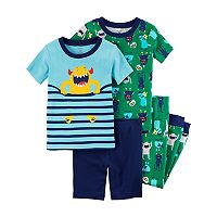Toddler Boy Carter's 4 pc Monsters Pajamas Set