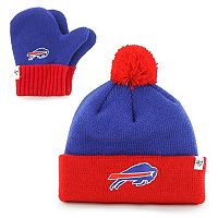Toddler '47 Brand Buffalo Bills Bam Bam Beanie & Mittens Set