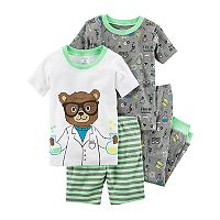 Toddler Boy Carter's 4 pc Bear Scientist Pajamas Set