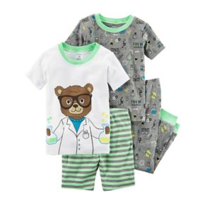 Toddler Boy Carter's 4-pc. Bear Scientist Pajamas Set
