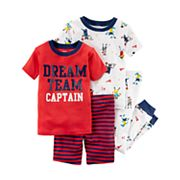 Toddler Boy Carter's 4 pc 'Dream Team Captain' Sports Pajamas Set
