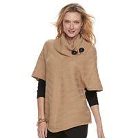 Women's Dana Buchman Textured Cowlneck Poncho Sweater