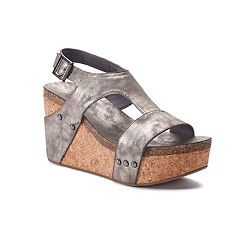 sugar Junebug Women's Platform Wedge Sandals