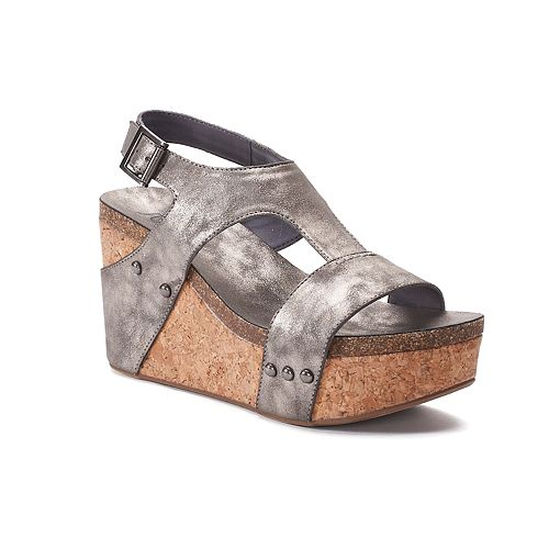 sugar Junebug Women's Platform ... Wedge Sandals t6hwz1A