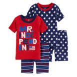 "Toddler Boy Carter's ""Mr. Independent"" Stars & Stripes Tops & Bottoms Pajama Set"