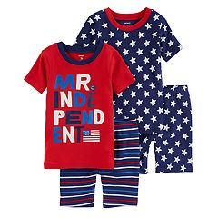 Toddler Boy Carter's 'Mr. Independent' Stars & Stripes Tops & Bottoms Pajama Set