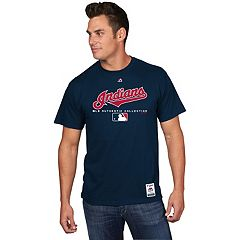Men's Majestic Cleveland Indians Team Drive Tee
