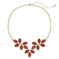 LC Lauren Conrad Red Leaf Halo Necklace