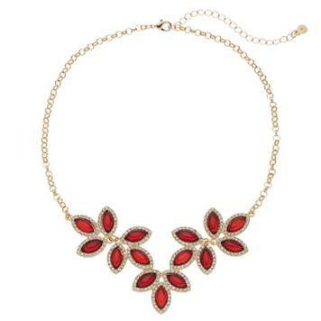 LC Lauren Conrad Red Leaf Halo Necklace