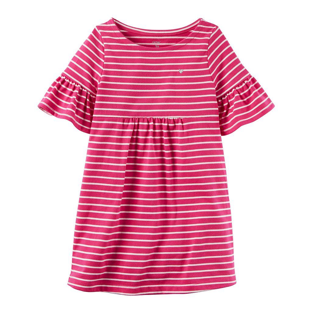 Girls 4-8 Carter's Striped Bell Sleeve Dress
