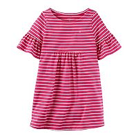 Girls 4-8 Carter's Striped Bell Sleeve Dress