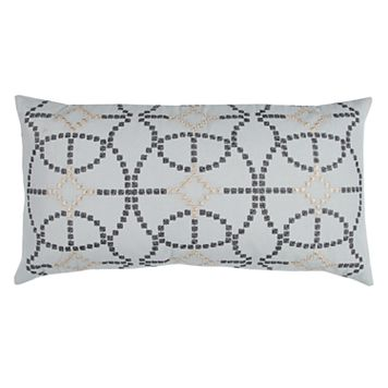 Doh By Rizzy Home Geometric Embroidered Throw Pillow