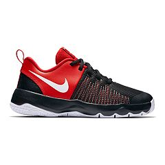 Nike Team Hustle Quick Grade School Boys  Basketball Shoes. Black Red Black 76c6a991f