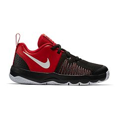 new arrivals 853d5 0e052 Nike Team Hustle Quick Pre-School Boys  Basketball Shoes. Black Red Black