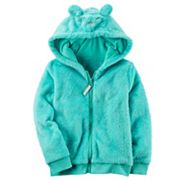 Girls 4-8 Sherpa Zipper Hoodie