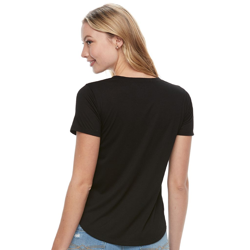 Juniors' Live By The Sun Graphic Tee