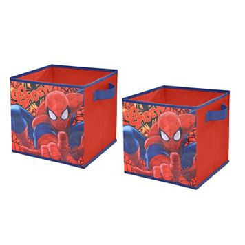 Marvel Spiderman 2-pack Collapsible Storage Cubes