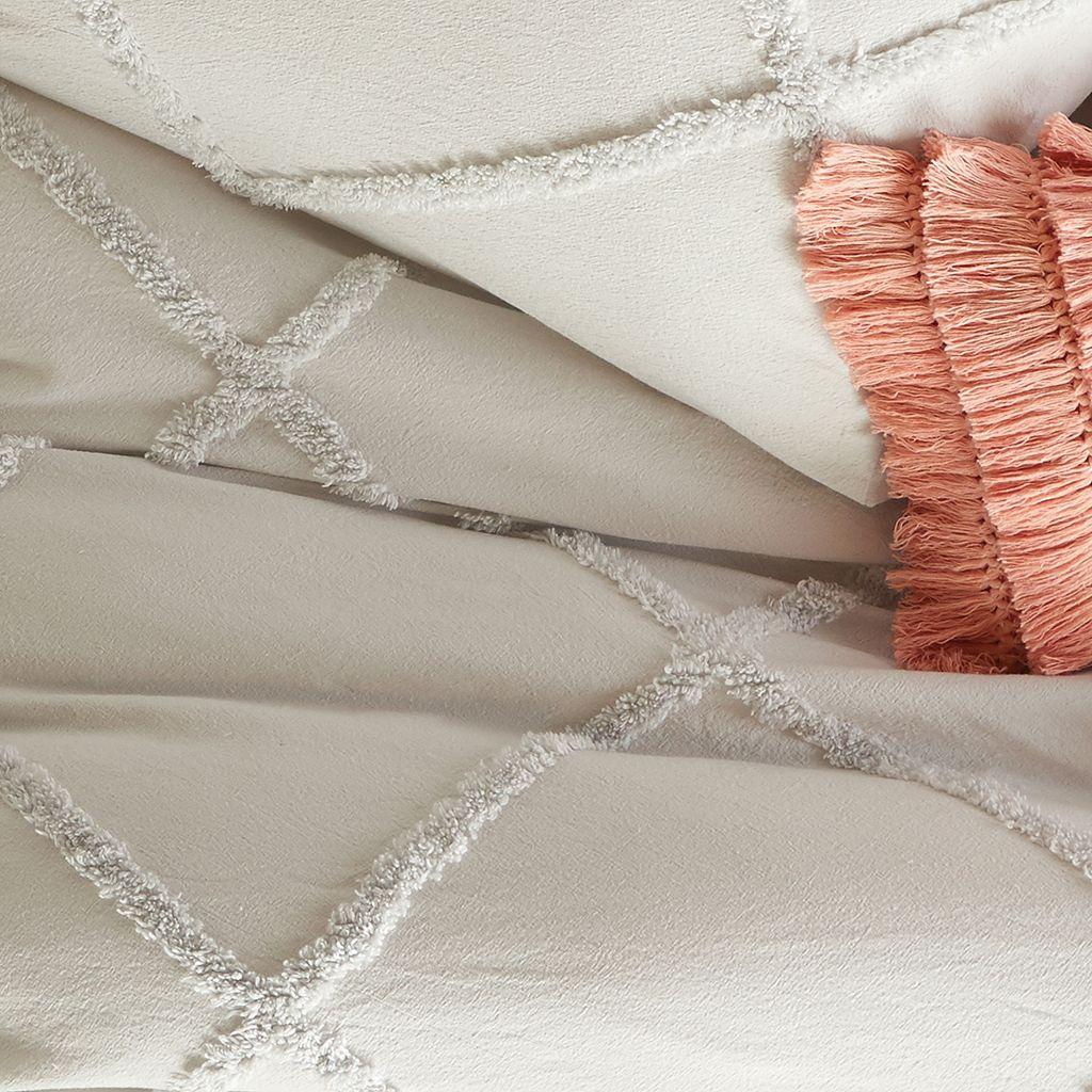 Peri Chenille Lattice Comforter Set