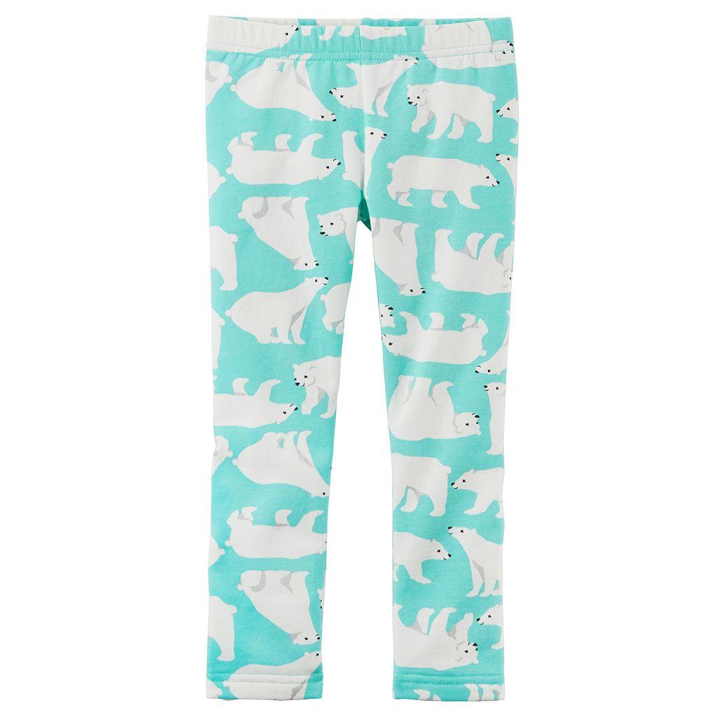 Girls 4-8 Carter's Animal Printed Fleece Leggings