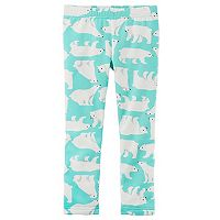 Girls 4-8 Carter's Animal Printed Fleece Leggings