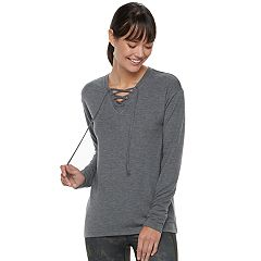 Women's Tek Gear® Lace-Up Long Sleeve Top