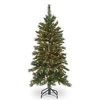 National Tree Company 4.5-ft. Pre-Lit Tiffany Fir Slim Artificial Christmas Tree