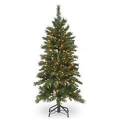 National Tree Company 4.5-ft. Pre-Lit Tiffany Fir Slim Artificial Christmas Tree
