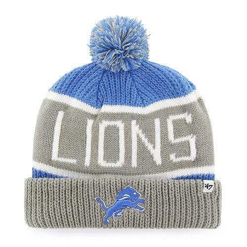 395bc716204 Adult  47 Brand Detroit Lions Cuffed Knit Beanie