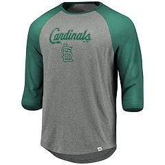 Men's Majestic St. Louis Cardinals Colorblock Raglan Tee