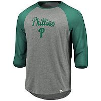 Men's Majestic Philadelphia Phillies Colorblock Raglan Tee