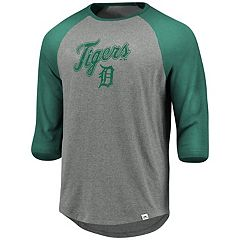 Men's Majestic Detroit Tigers Colorblock Raglan Tee
