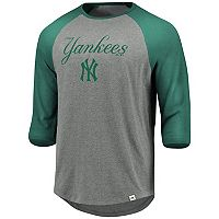 Men's Majestic New York Yankees Colorblock Raglan Tee