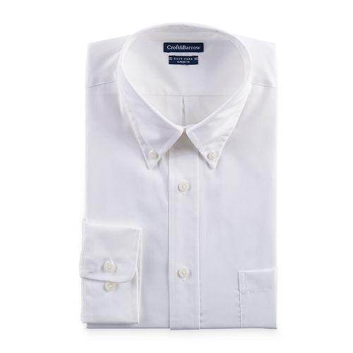 Big & Tall Croft & Barrow® Easy-Care Button-Down Collar Dress Shirt