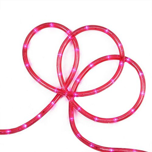 pink led indoor outdoor christmas rope lights