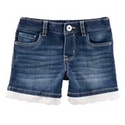 Toddler Girl OshKosh B'gosh® Eyelet-Trim Jean Shorts