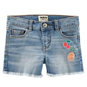 Toddler Girl OshKosh B'gosh® Fruit Frayed-Hem Denim Shorts