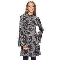 Junior's Love, Fire Mockneck Bell Sleeve Dress
