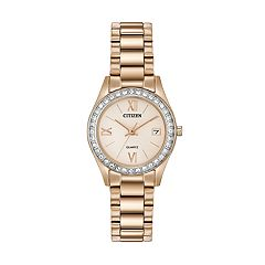 Citizen Women's Crystal Stainless Steel Watch - EU2683-54Q