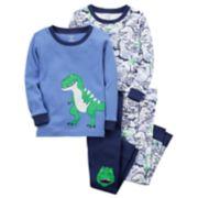 Toddler Boy Carter's 4-pc. Dinosaur Pajamas Set