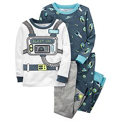 Toddler Boy Carter's 4 pc Space 'Blast Off' Tops & Pants Pajama Set