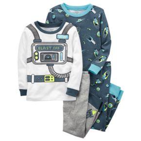 "Toddler Boy Carter's 4-pc. Space ""Blast Off"" Tops & Pants Pajama Set"