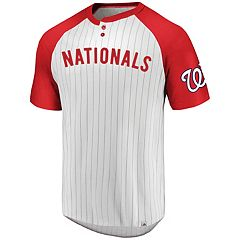 Men's Majestic Washington Nationals Pinstripe Jersey Tee