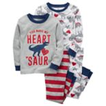 "Toddler Boy Carter's 4 pc Dinosaur ""You Make My Heart Saur"" Pajamas Set"
