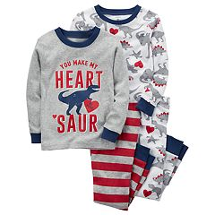 Toddler Boy Carter's 4 pc Dinosaur 'You Make My Heart Saur' Pajamas Set