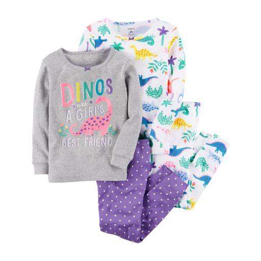 Baby Girl Carter's 4-pc. Dinosaur Pajamas Set