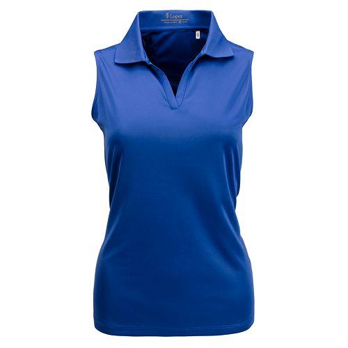Plus Size Nancy Lopez Luster Sleeveless Polo