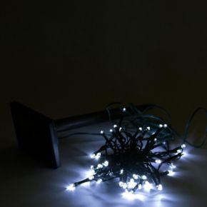 50 White Solar Powered LED Outdoor Christmas Lights