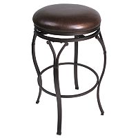 Lakeland Swivel Backless Bar Stool